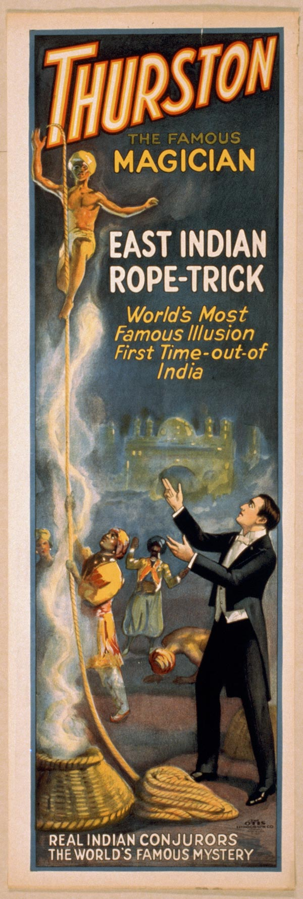 "Cartaz de ""Trurston - The Great Magician"", de 1927"