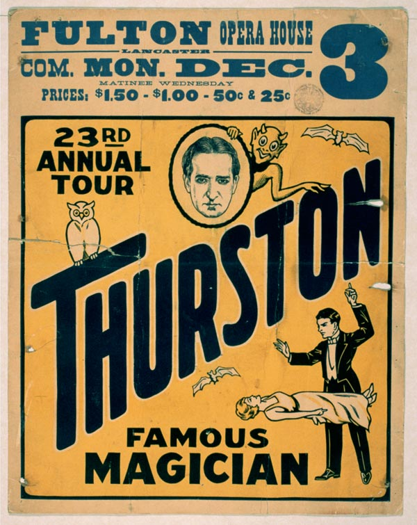"Cartaz de ""Trurston - The Great Magician"", de 1934"