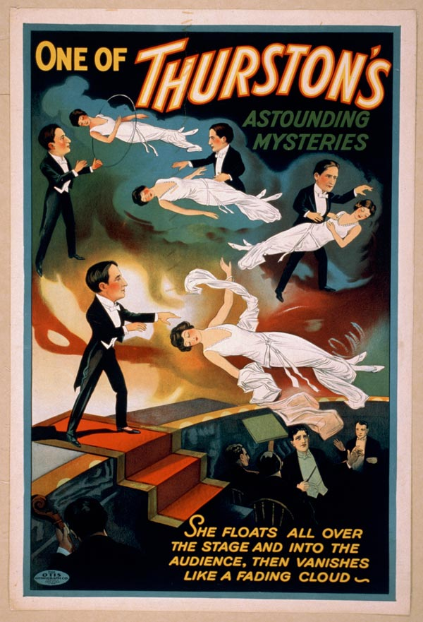 "Cartaz de ""Trurston - The Great Magician"", de 1935"