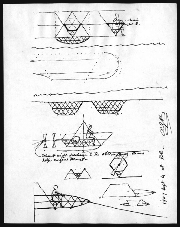 "Sketch do ""gyroscope"", de Graham Bell"