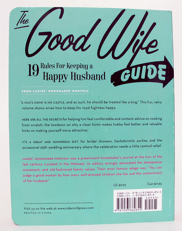 The Good Wife Guide - Quarta capa