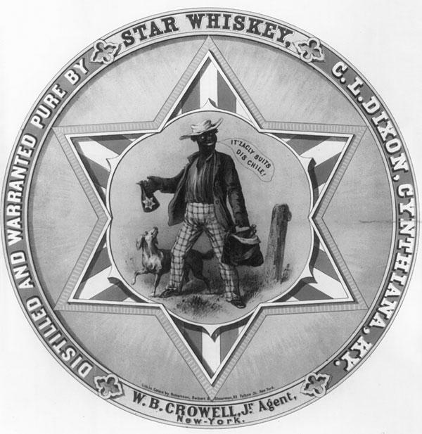 Rótulo vintage de whiskey, de 1859