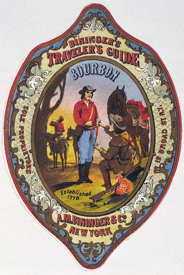 Rótulo vintage de whiskey, de 1861
