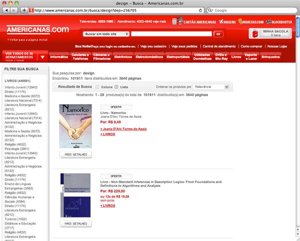 Livros de design na Americanas.com