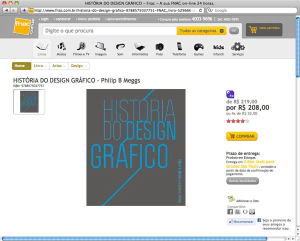 Livros de design na Fnac
