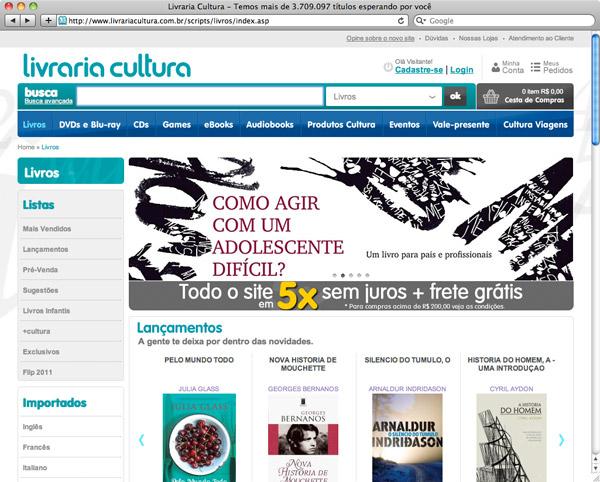 Livros de design na Livraria Cultura - 1