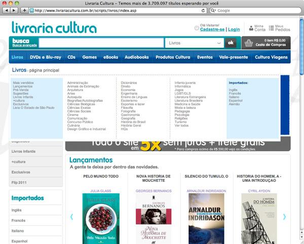 Livros de design na Livraria Cultura - 2
