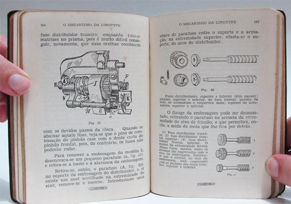 O Mecanismo da Linotype - Detalhes