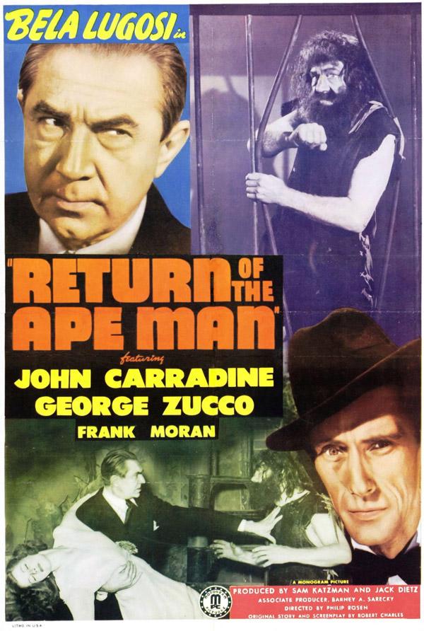 """Cartaz de filme B com o tema """"o retorno"""""""