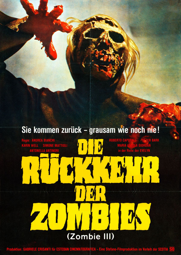 Cartaz de filme de zumbi - Burial Ground
