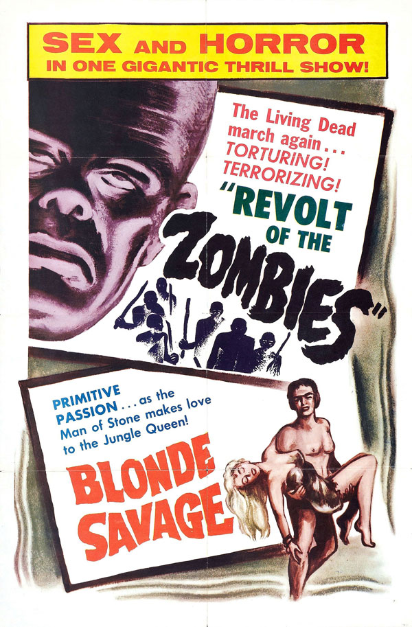 Cartaz de filme de zumbi - Revolt of the Zombies