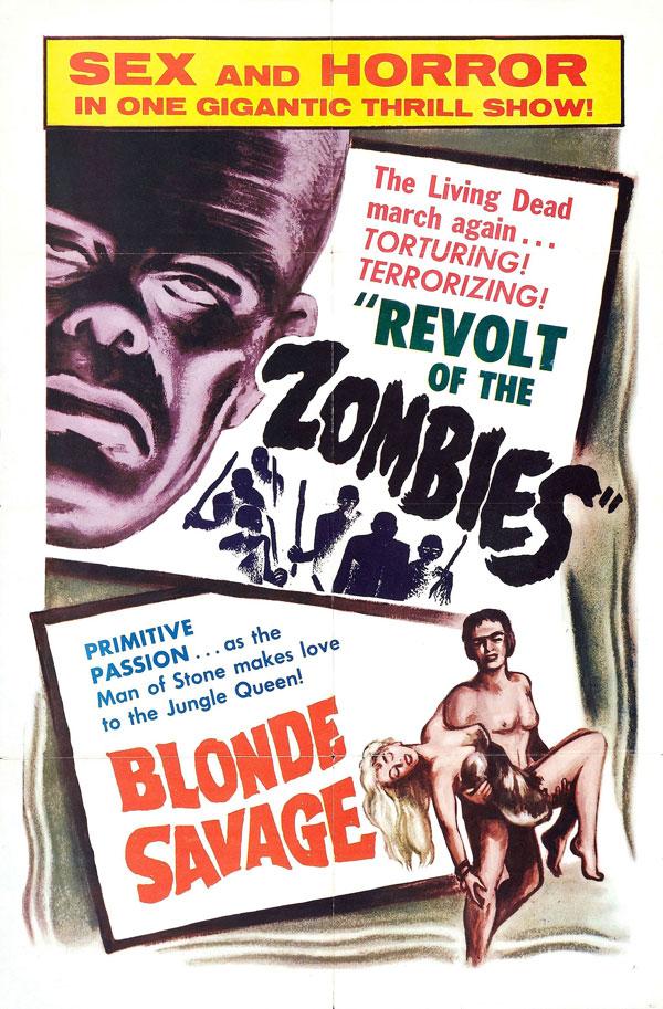 Cartaz de filme de zumbi - Revolt of the Zombies