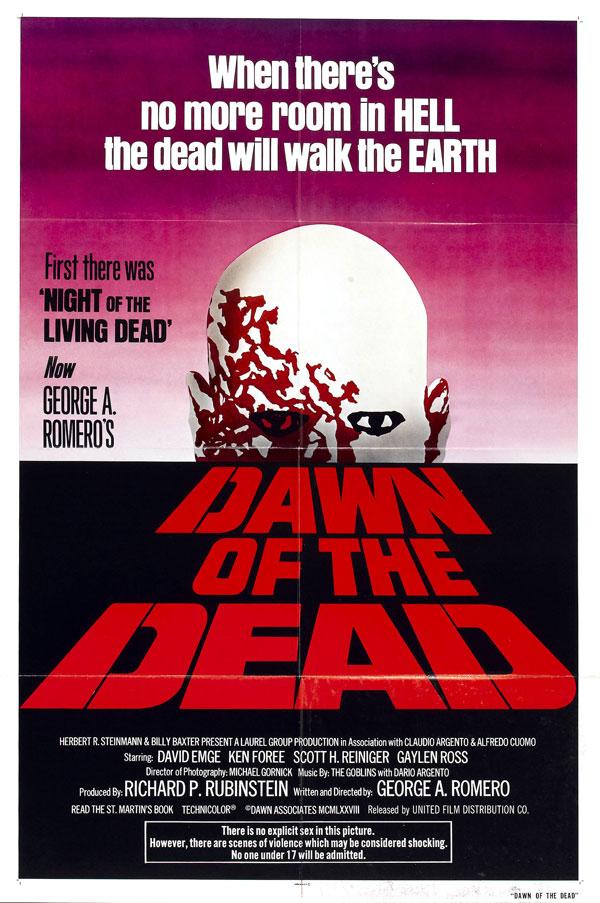Cartaz de filme de zumbi - Dawn of the Dead
