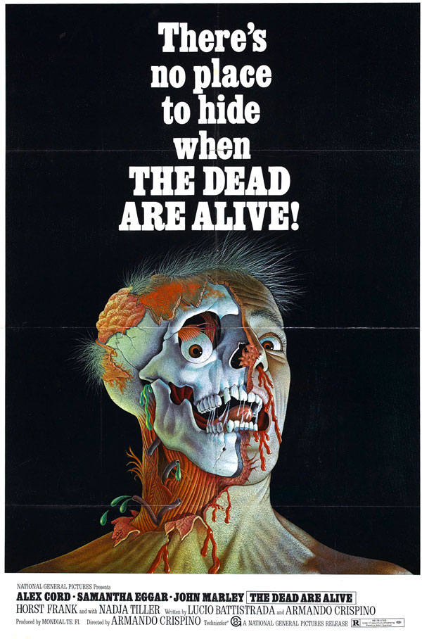 Cartaz de filme de zumbi - The Dead Are Alive