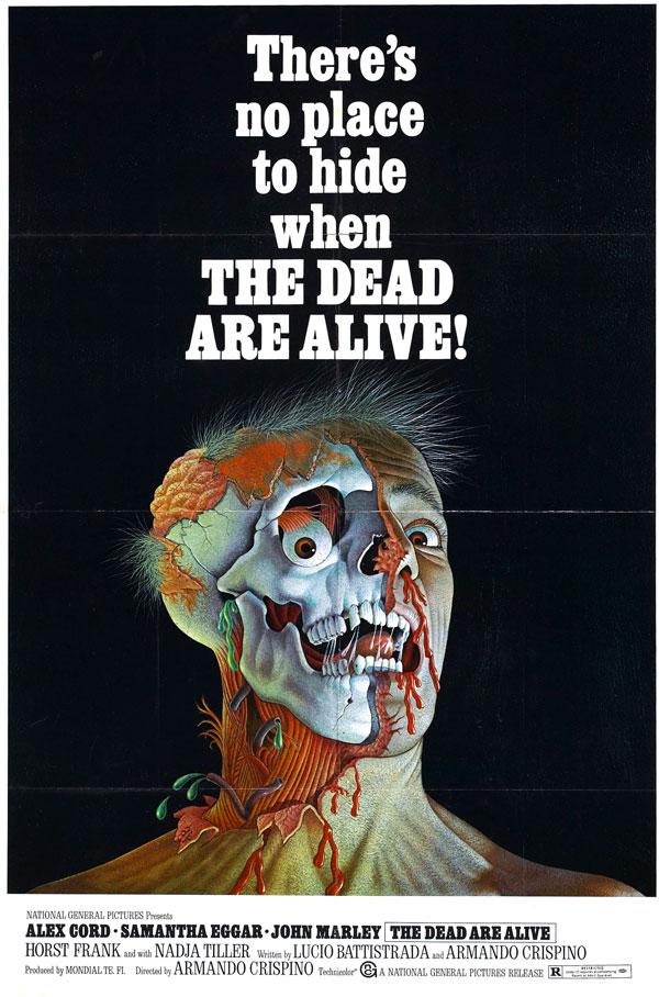 Cartaz de filme de zumbi - The Dead Are Alive