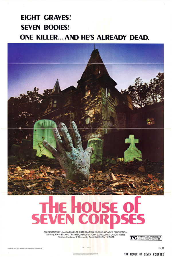 Cartaz de filme de zumbi - The House of Seven Corpses