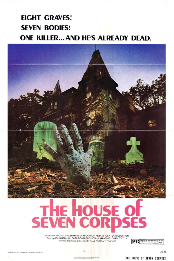 Cartaz de filme de zumbi - The House of Seven Corpses