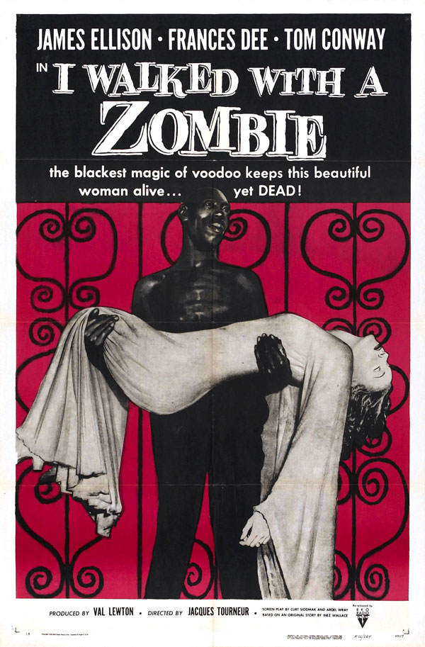Cartaz de filme de zumbi - I Walked With a Zombie