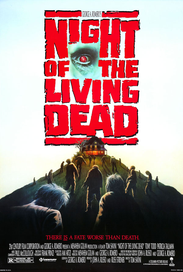 Cartaz de filme de zumbi - Night of the Living Dead