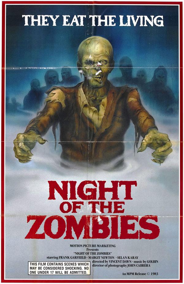 Cartaz de filme de zumbi - Night of the Zombies