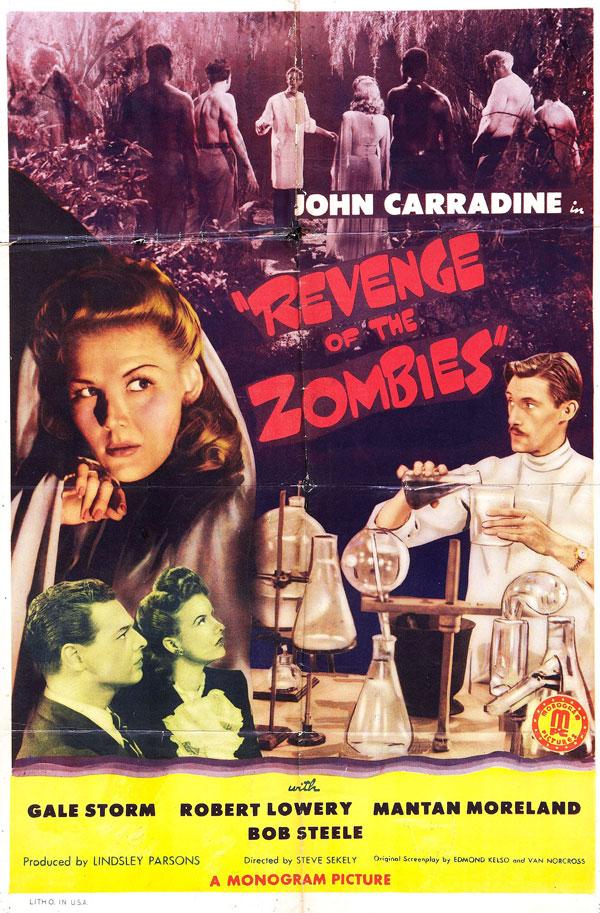 Cartaz de filme de zumbi - Revenge of the Zombies