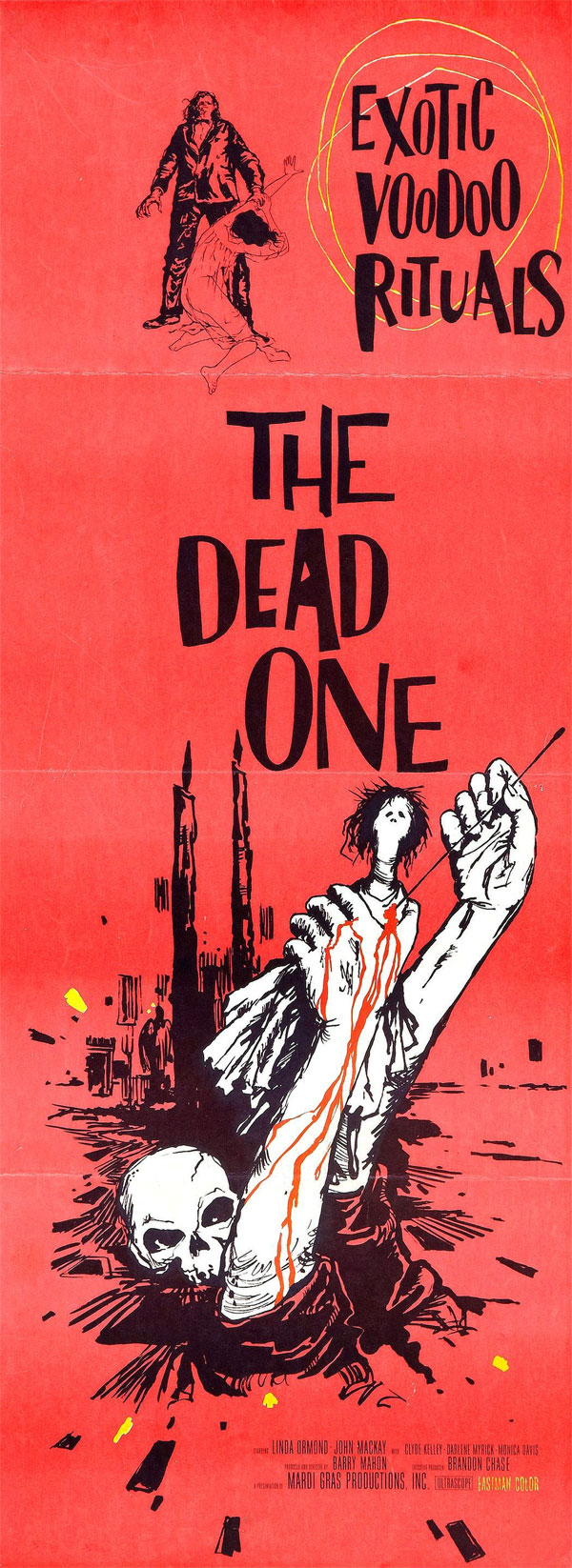 Cartaz de filme de zumbi - The Dead One