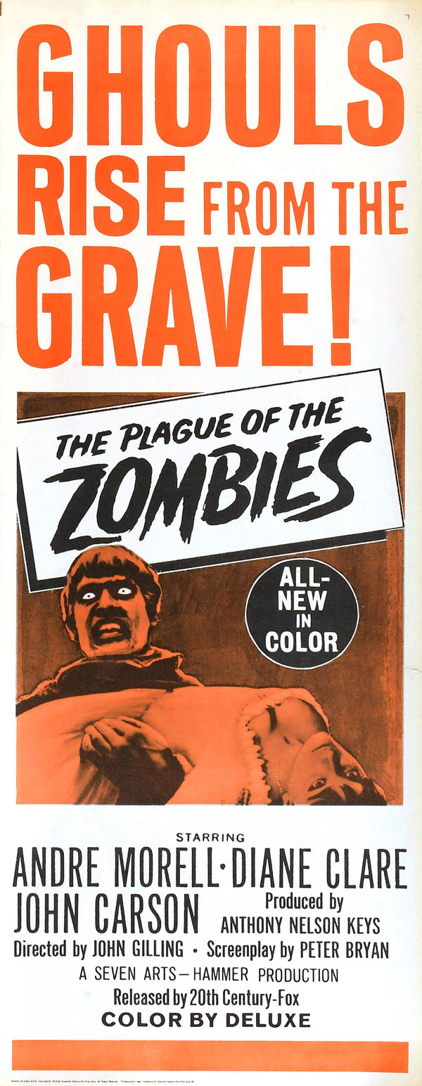 Cartaz de filme de zumbi - The Plague of the Zombies