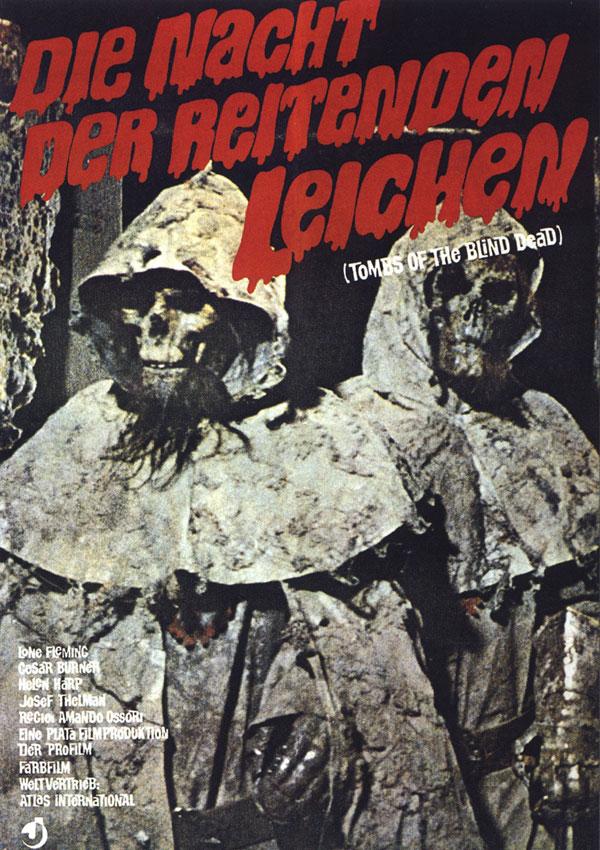 Cartaz de filme de zumbi - Tombs of the Blind Dead