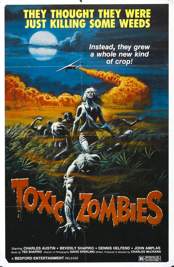 Cartaz de filme de zumbi - Toxic Zombies