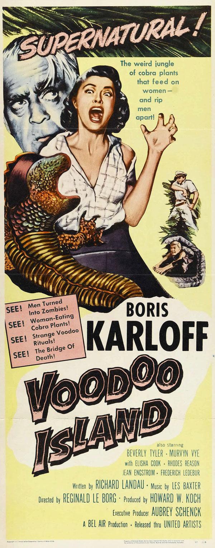 Cartaz de filme de zumbi - Voodoo Island