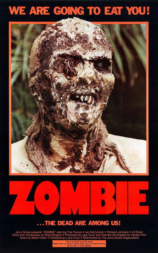 Cartaz de filme de zumbi - Zombie
