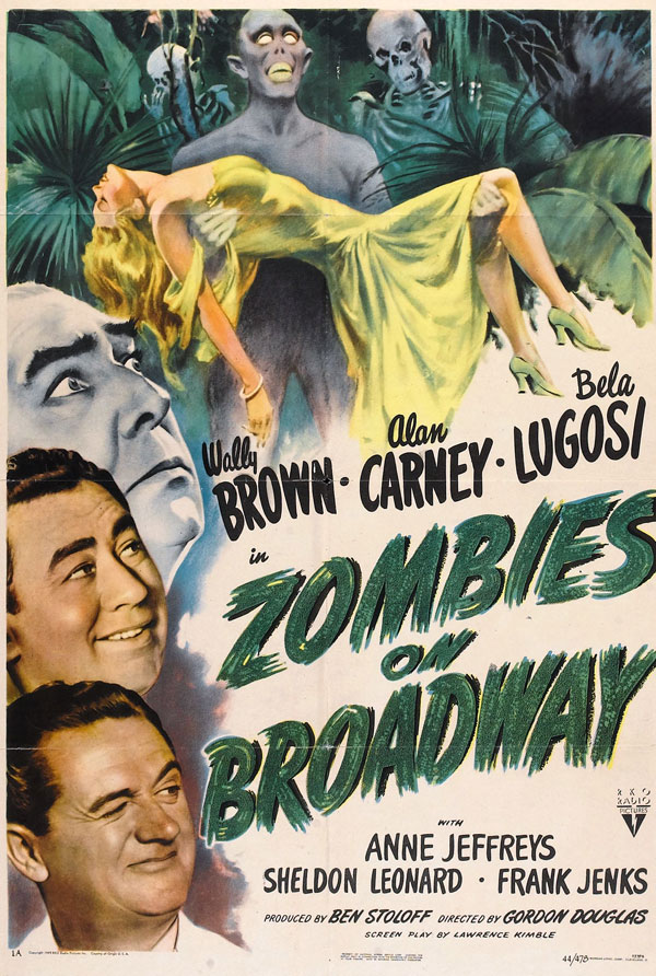 Cartaz de filme de zumbi - Zombies on Broadway