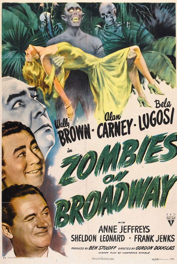 Cartaz de filme de zumbi - Zombies on Broadway