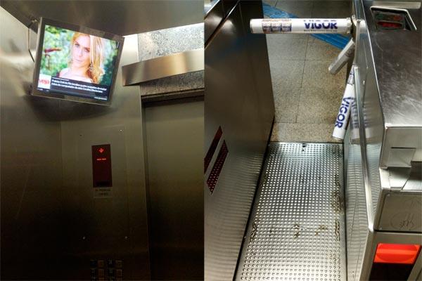 Fotos da Carolina Dieckmann e publicidade na catraca do Metro