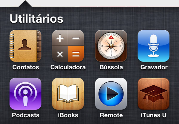 Apps de iPhone default da Apple